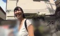 デビューして間もない巨乳美女の桐谷まつりが1か月オナ禁してから肉欲温泉旅行に出発