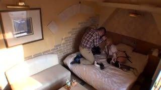「種付けされたぁ」アニメコスの素人娘とホテルで生々しいハメ撮り!